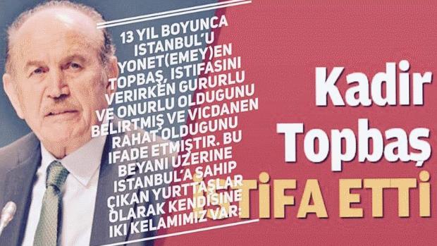 """İKS: """"Kadir Topbaş, istifa etmek bir hesap verme yöntemi DEĞİLDİR!"""