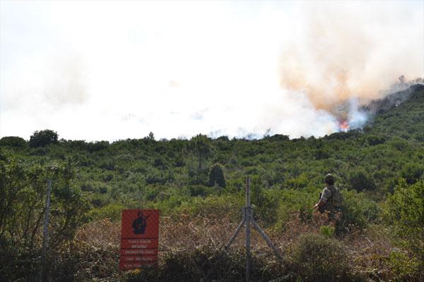 Kuzey Ormanları'ndaki askeri alanda orman yangını çıktı
