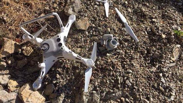 Artvin kartalı, yuvasının üzerinde uçurulan HES drone'nunu parçaladı