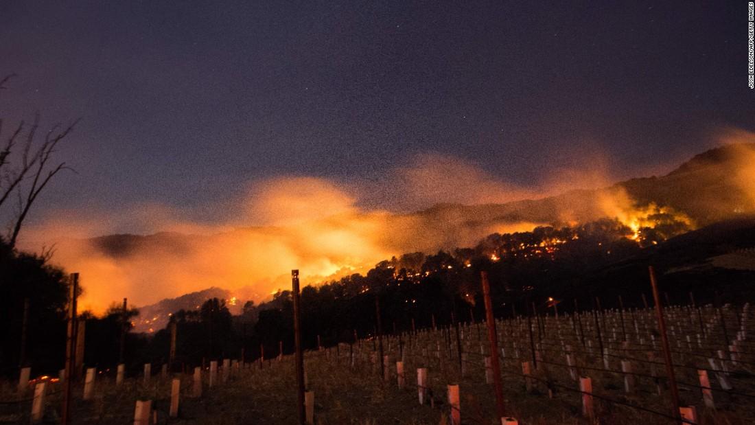 California'nın şarap üretim bölgesinde çıkan orman yangınlarında 10 ölü