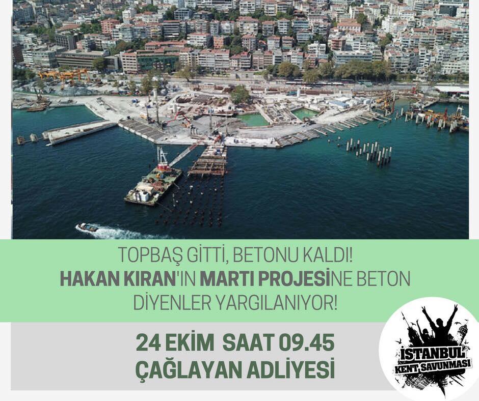 İstanbul'u, doğasını, tarihini, kültürünü savunanlar bir kez daha Çağlayan'da