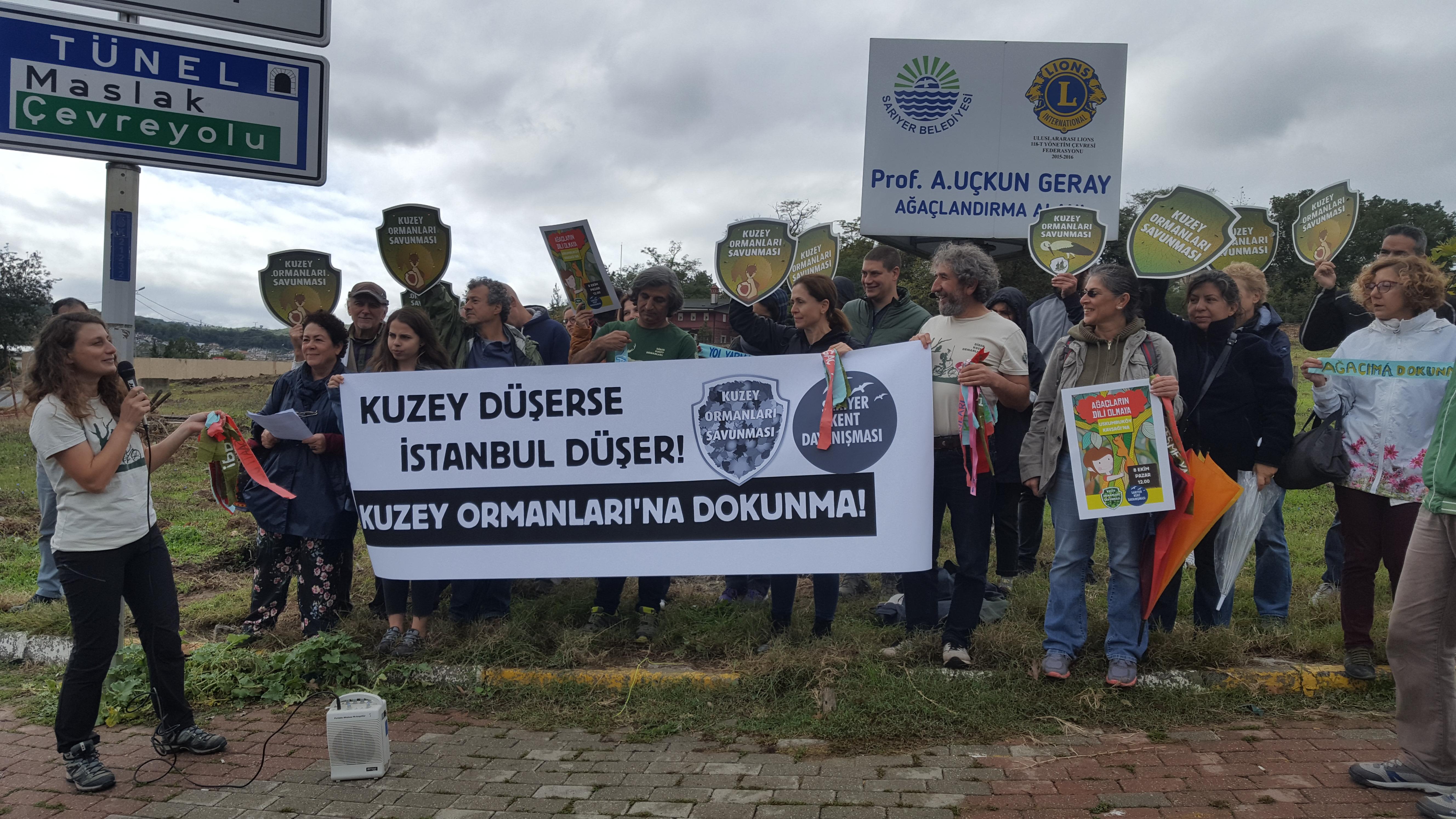 """Yaşamı savunanlar Uskumruköy'de haykırdı: """"Kuzey düşerse İstanbul düşer!"""""""