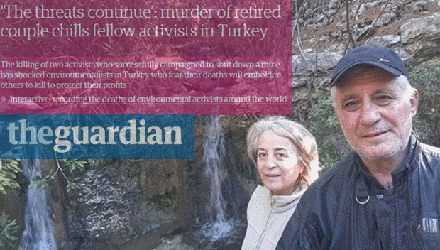 'The threats continue​': murder of retired couple chills fellow activists in Turkey