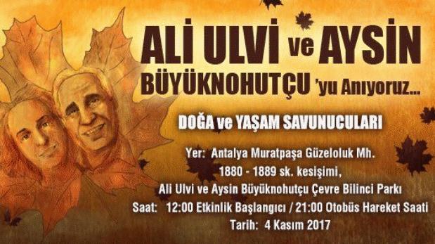 Yaşam savunucuları Büyüknohutçu çifti için 4 Kasım'da Antalya'da buluşuyor