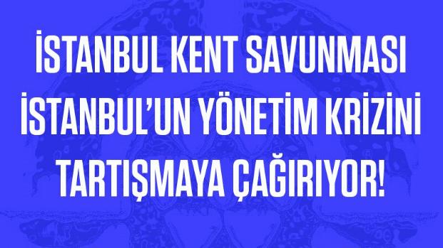 İKS, 19 Ekim 19.00'da İstanbul'un yönetim krizini tartışmaya çağırıyor