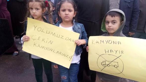 Maltepeliler hafriyat kamyonu terörünü protesto etti