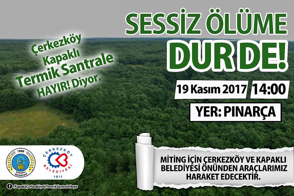 Trakya halkı, termik santral tehdidine karşı Pazar günü Tekirdağ – Pınarça'da buluşacak