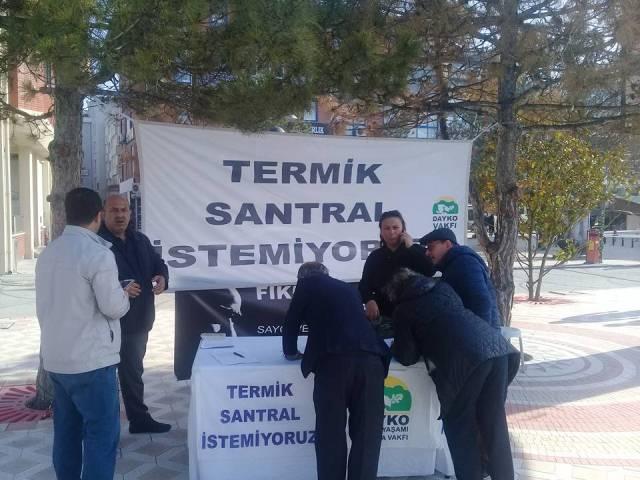 Termik Santrale karşı imza kampanyası devam ediyor