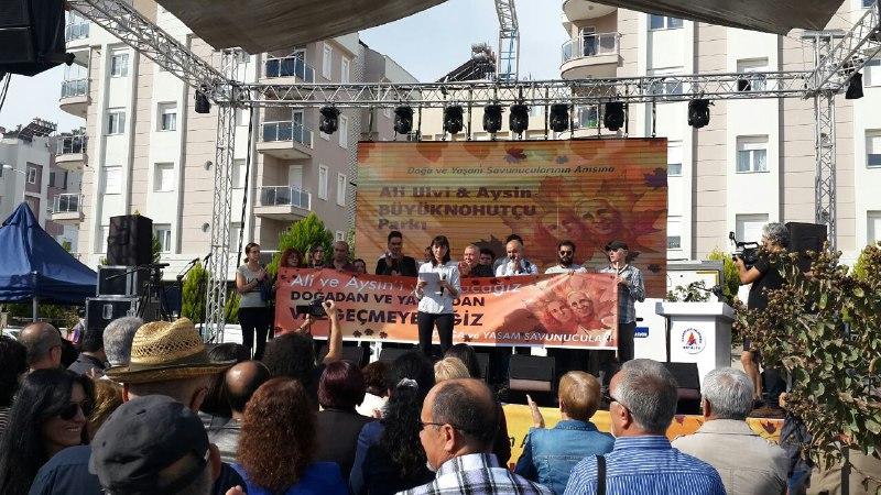 Yaşam savunucuları, öldürülen Ali ve Aysin Büyüknohutçu çiftini anmak için Antalya'daydı