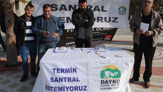 DAYKO Trakya'da termik santrale karşı itiraz dilekçesi topluyor