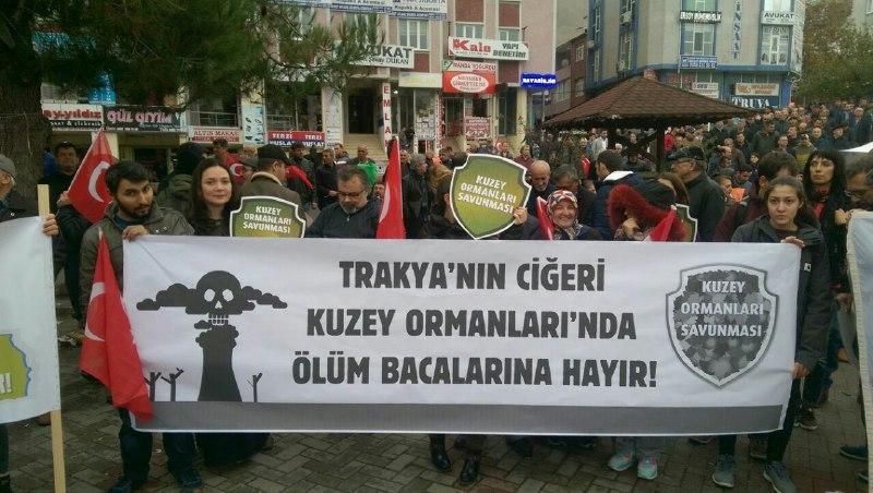 Tekirdağ halkı miting düzenledi: Çerkezköy'de termik istemeyiz be yaa!