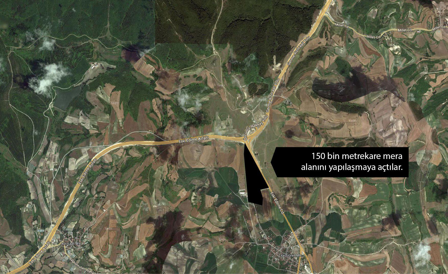 Kuzey Ormanları'nın Yassıören Köyü'ndeki 150 bin metrekarelik mera alanını yapılaşmaya açtılar!