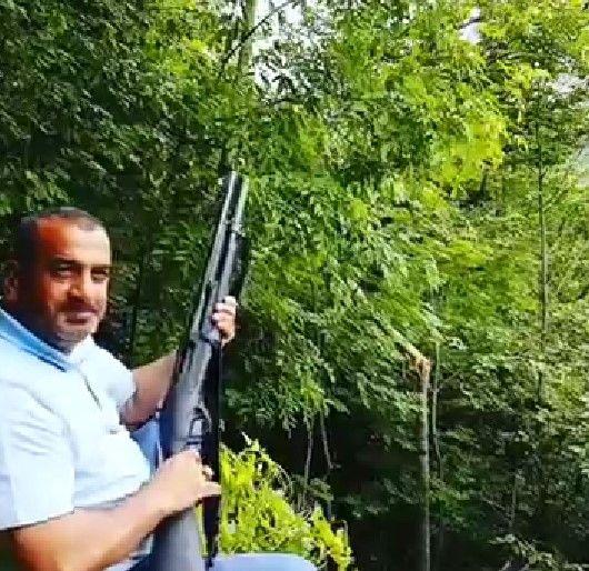 Yeşile düşman… Pompalı tüfekle ateş ederek ağaçları devirdi