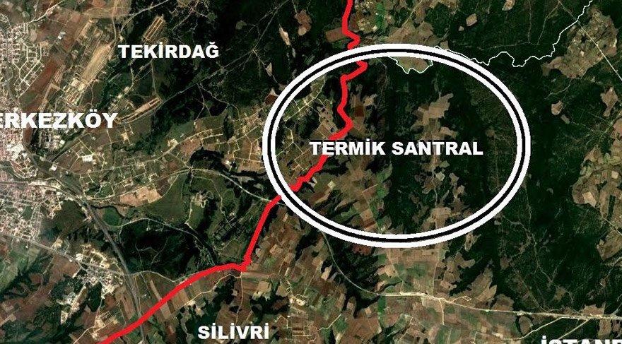 Trakya'ya ölüm bacaları projesi, Silivri Kuzey Ormanları'ndan Çerkezköy Kuzey Ormanları'na kaydırıldı
