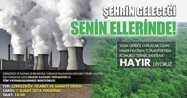 Saray Doğayı Koruma Derneği'nden termik santral ÇED toplantısına çağrı – 1 Şubat Perşembe