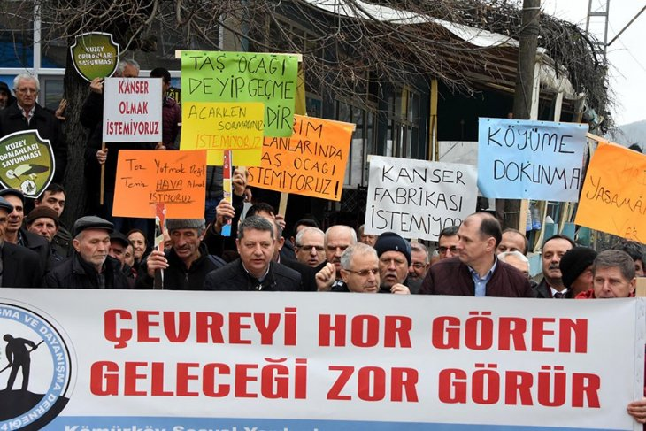 Kırklareli Vize'ye bağlı Kömürköy ve Akpınar Köylüleri de 'taş ocağı'na karşı direnişe geçti! #KuzeyOrmanlarıDireniyor