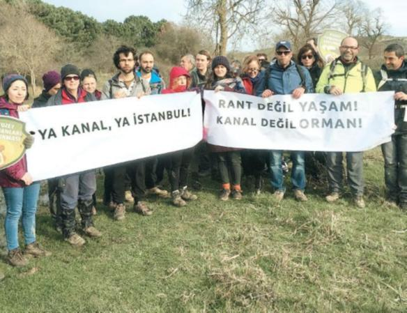 Jandarma eşliğinde Kanal İstanbul rota gezisi