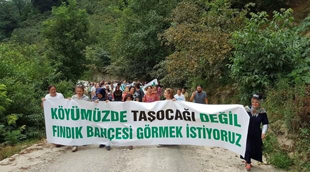 """Fatsa Kayaköy'de mahkeme taşocağına """"dur"""" dedi"""