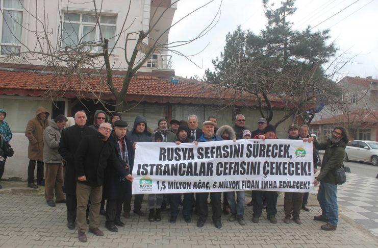 """Saray halkından Türk Akımı'na protesto: """"Rusya sefasını sürecek, Istrancalar cefasını çekecek"""""""