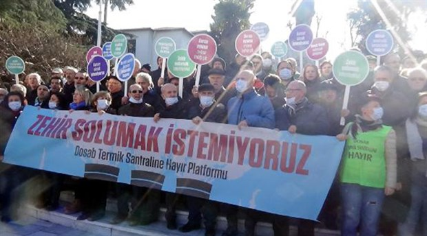 Bursa'da yaşam savunucuları DOSAB termik santraline karşı bir kez daha ayakta