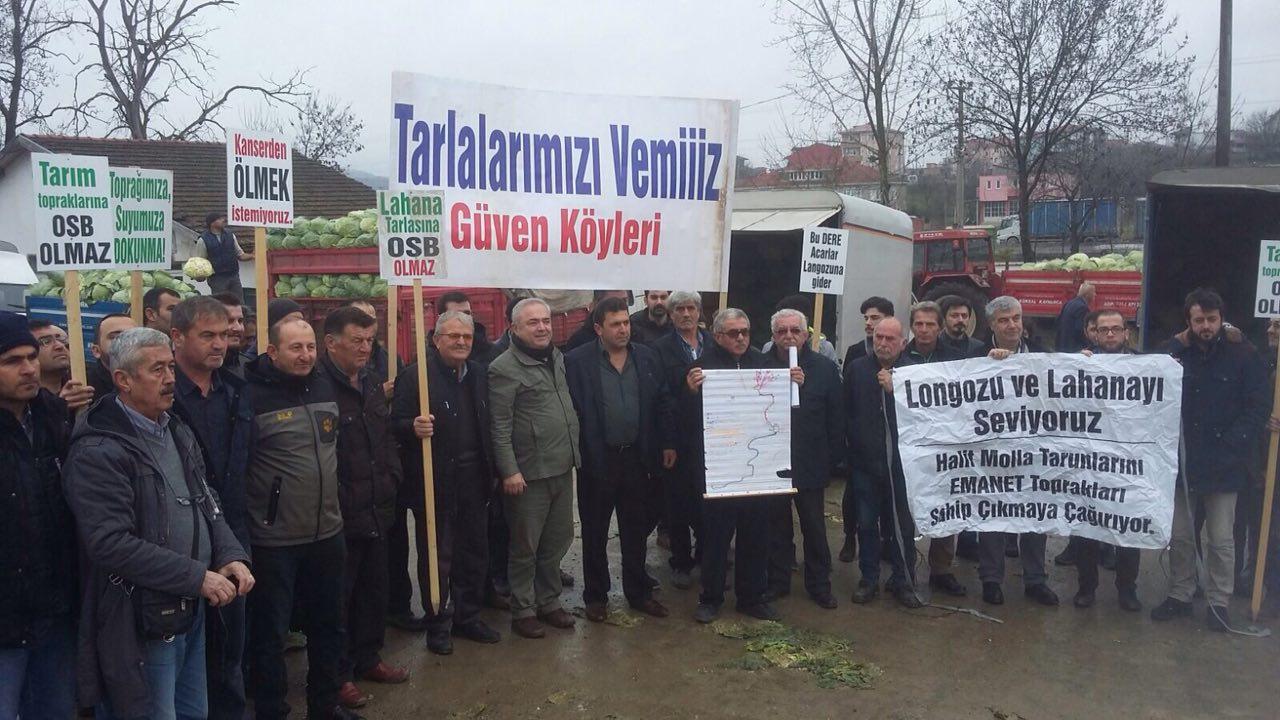 Sakarya Güven Köylüleri OSB'ye karşı tarım topraklarını savunuyor, #AcarlarLongozu direniyor!