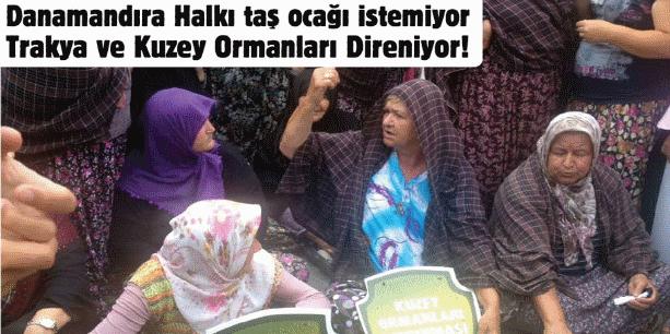 9 Ocak Salı 13.00'da, Danamandıra'da taş ocaklarına karşı İstanbul Çevre ve Şehircilik İl Müdürlüğü önündeyiz