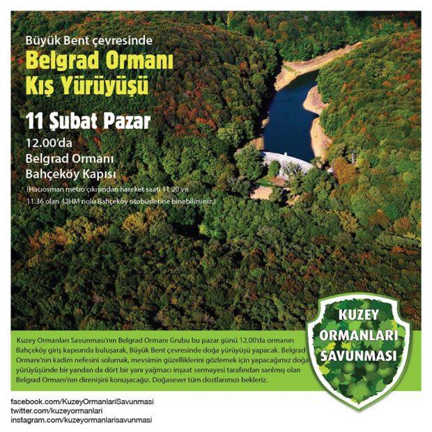 Belgrad Ormanı kış yürüyüşüne davetlisiniz – 11 Şubat Pazar