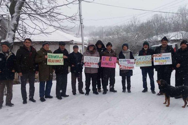 Kuzey Ormanları'nı tahrip eden taş ocağının kapasite artışı toplantısına Koruköy Halkı izin vermedi