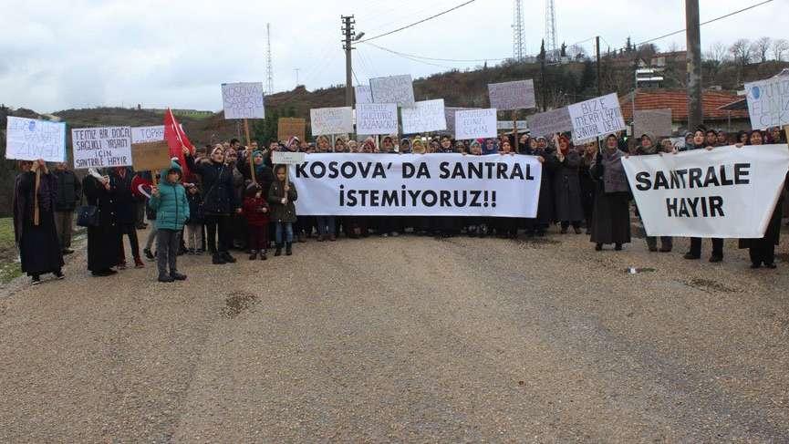 Bursa Kosova Köyü kadınları katı atık tesisine karşı yürüdü