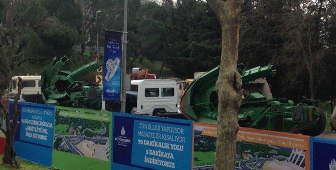 İBB, TOMA ve ağaç sökme makineleri ile Maçka Parkı'nı işgal ediyor!