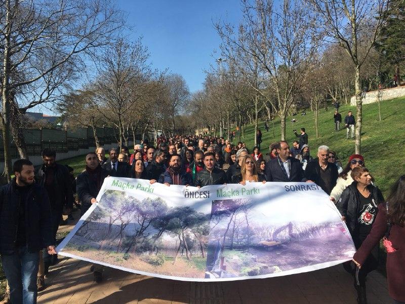 Kentin altını oyan tünel projesine karşı yaşam savunucuları Maçka Parkı'ndaydı: Beton değil park istiyoruz!