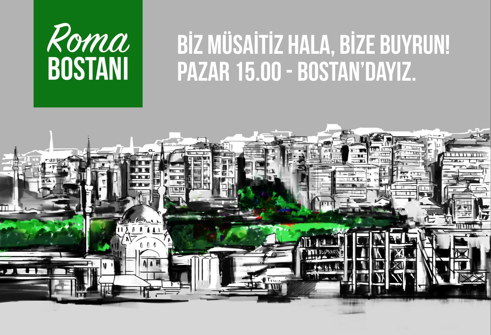 Roma Bostanı Bu Pazar, 25 Mart'ta İstanbulluları Baharı Karşılamaya Çağırıyor!