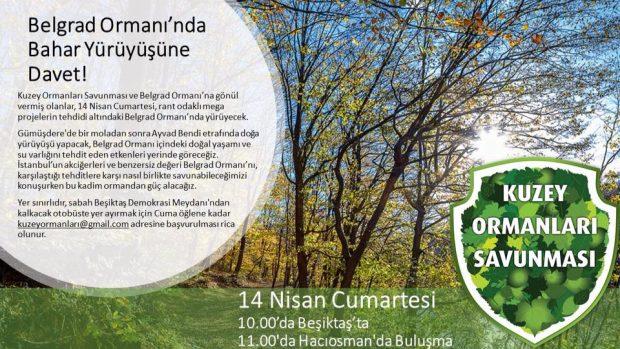 Kuzey Ormanları Savunması, Belgrad Ormanı'na, baharı karşılamaya çağırıyor – 14 Nisan Cumartesi