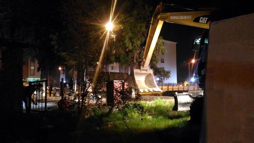 AVM yapmak için Köy Enstitüsü Parkı'nı yıkıp ağaçları kestiler!