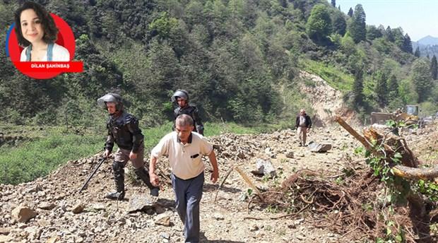 """HESlere karşı mücadele veren """"Yurttaş Kazım""""ın arazisini yol bahane ederek tahrip ettiler"""