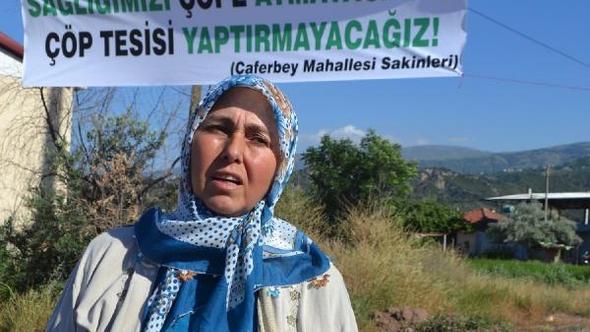 Salihli'de halk Büyükşehir Belediyesi'nin katı atık tesisine karşı