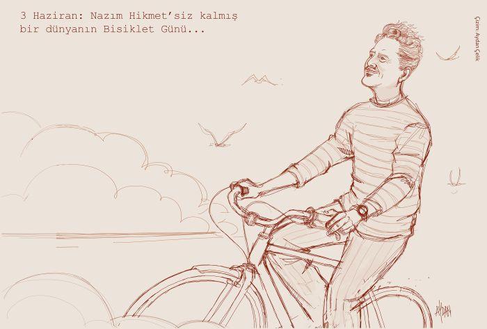3 Haziran Dünya Bisiklet Günü ve Nazım Hikmet
