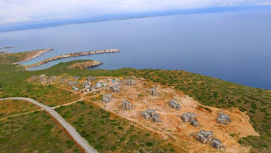 Bozcaada'nın cennet Akvaryum koyuna villa yapılmaya başlandı!