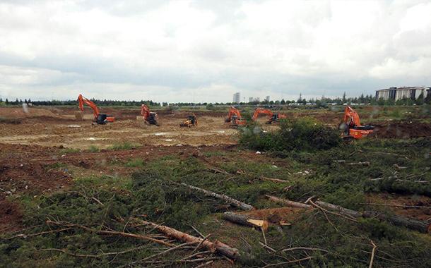 Yeni Yargıtay binası ODTÜ arazisinde yüzlerce ağacın katledilmesine neden oldu