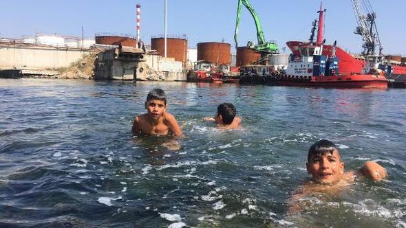Dilovası'nda deniz sezonu açıldı (!)
