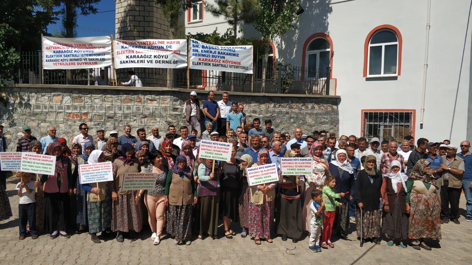 Bursa Karaağız'da termik santrale onay veren kamu görevlileri halkın sorularına yanıt veremedi