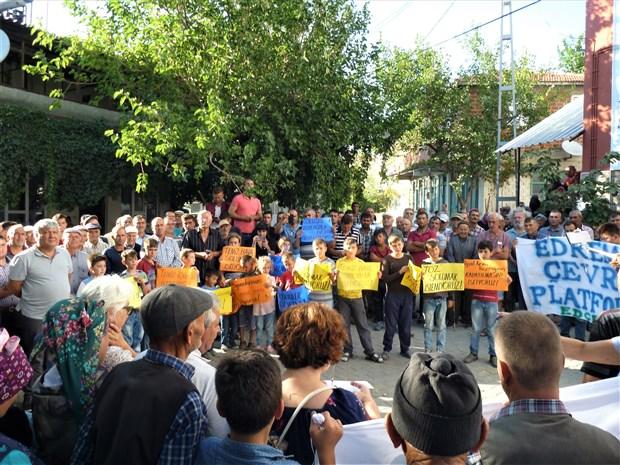 Balıkesir'in Kocaseyit Köyü'nde taş ocağına karşı tepki