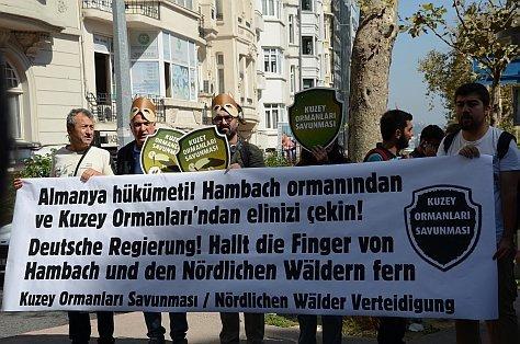 Kuzey Ormanları Savunması'ndan Almanya'daki Hambach Ormanı için direnen kardeşlerine destek