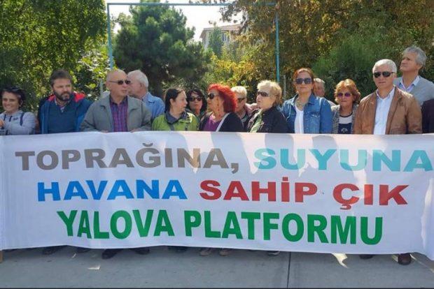 Yalova'da deprem toplanma alanının yapılaşmaya açılmasına tepki