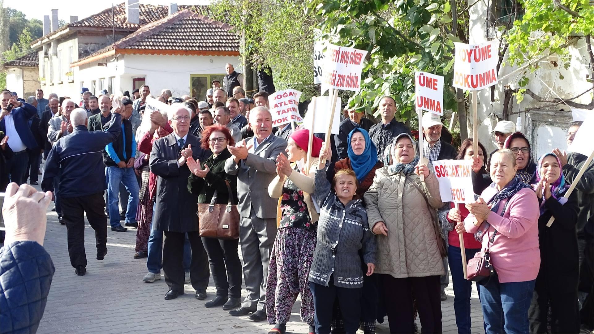 Vize Soğucak Köylüleri, Istranca Ormanları'na kil ocağı ÇED toplantısını yaptırmadı #DirenKuzeyOrmanları