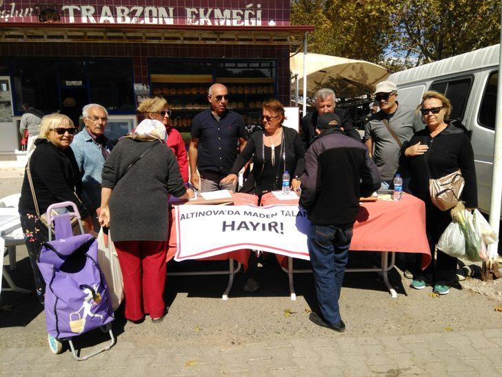 Altınova'da maden talanına hayır