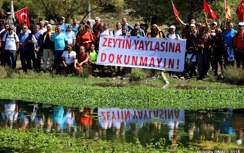 """Denizli Zeytin yaylasında sayısız canlının suyunu kurutacak """"projeye"""" halk tepki gösteriyor"""