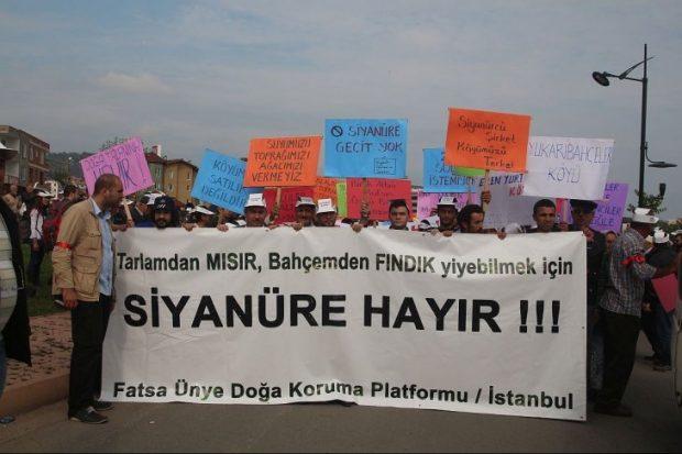 Siyanüre karşı çıkan Fatsalılara AYM'den sevindiren karar