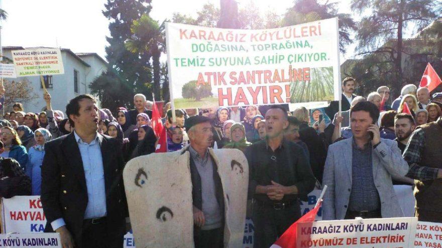 Karaağız  köylüleri termik santrale karşı eylemde: 'Köyümüzde ölene kadar yaşamak istiyoruz'