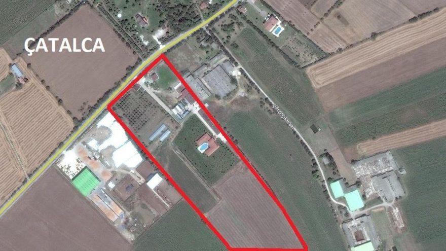 İBB Çatalca'da Büyükçekmece Barajı koruma havzasında bulunan 90 dönüm araziyi sanayi tesislerine açtı!